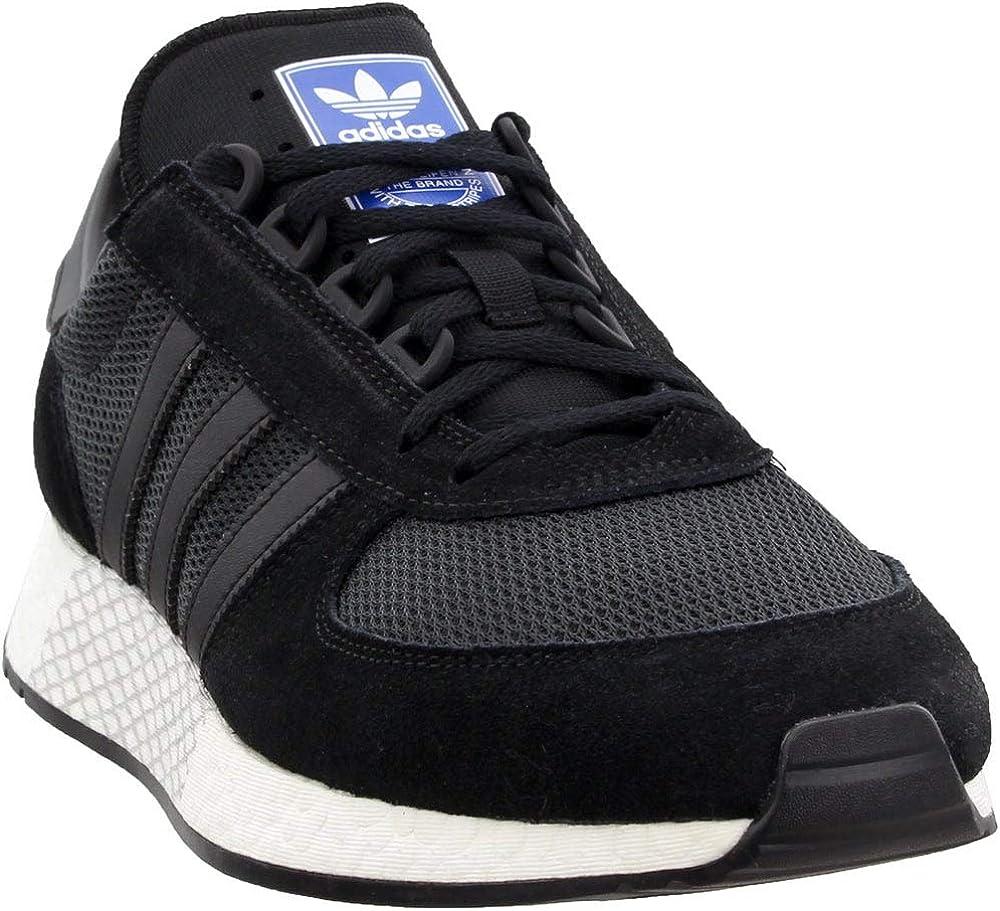 adidas Mens Marathon Tech Lace Up Sneakers Shoes Casual - Blue