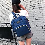 Ankola Women Backpack,Backpack for Girls,Fashion Pure Colour College Bags Student School Backpack (10.26'', Navy)
