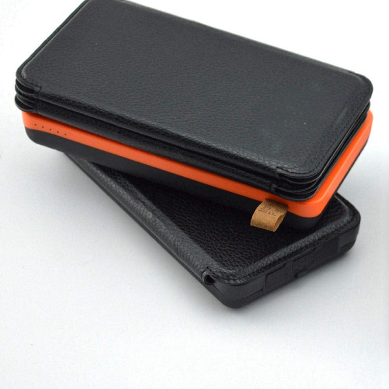 Nrpfell Solar Mobile Power 6 Panel Plegable Proyector de Emergencia 20000 Mah Cargure Treasure Cargador de Teléfono Universal Equipo para Exteriores Negro Naranja Plástico
