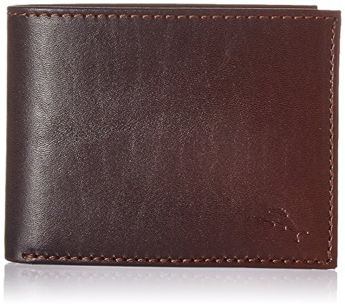 - Tommy Bahama Men's Leather Ombre Slimfold Wallet-brown, One Size