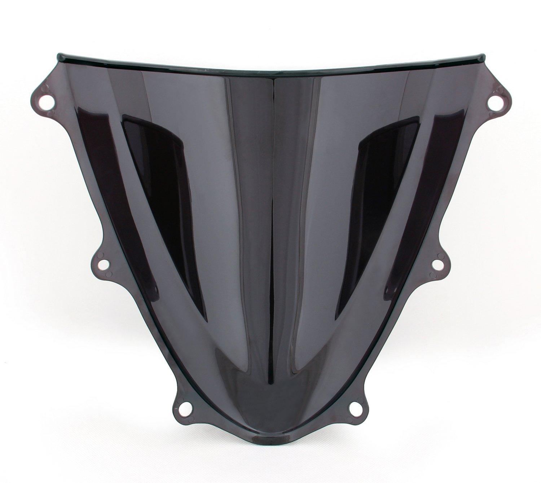 Areyourshop Windshield WindScreen Double Bubble For Suzuki GSXR600//750 2011-2018 Black