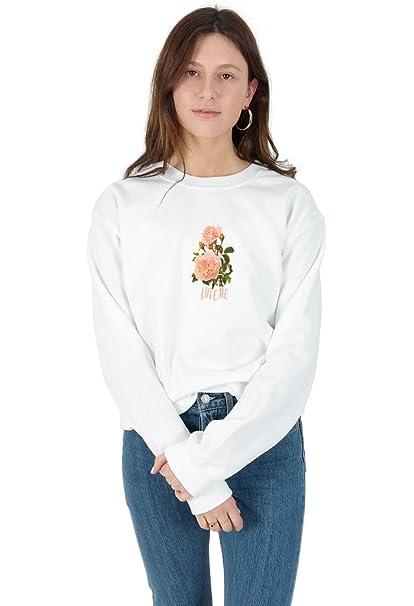 Sanfran Love Me Floral Top Tumblr 90s Retro Vintage Grunge Rose Roses Jumper Sweater
