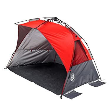 E-Z UP WT8PN Wedge Portable Beach Tent 4 Person UV with Carry Bag, Punch
