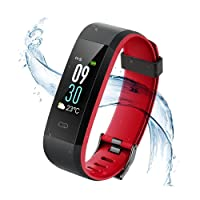 Vigorun Fitness Tracker Rastreador de Actividad de Pantalla en Color Monitor de Pulso cardiaco IP68 a Prueba de Agua Podómetro Monitor de sueño,para Android e iOS