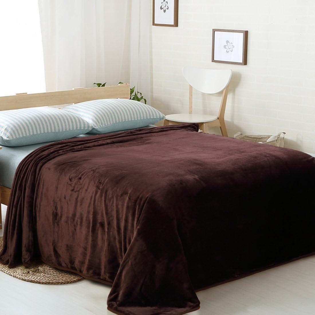 Lightweight Fuzzy Cozy Couch Blanket MEROUS Fleece Soft Warm Throw Sky Blue Blanket 50 Inch by 61 Inch