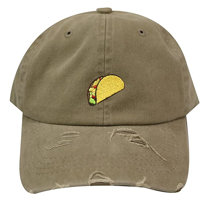 baf32885 Image Unavailable. Image not available for. Color: City Hunter C104 Taco  Emoji Cotton Baseball Cap Dad Hats 15 ...