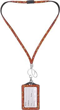 Lanyard ID Card Holder Neck Strap Safety Breakaway Rhinestone Crystal