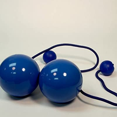Play Pair of Contact GIGA Poi with 100mm Stage Ball -Blue: Toys & Games