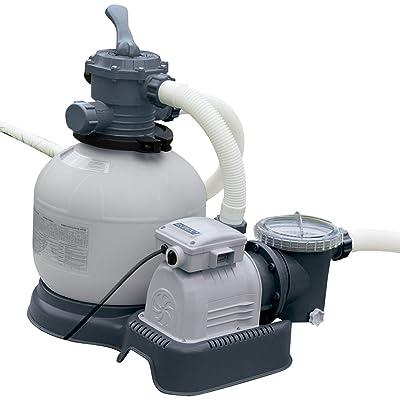 Intex 14-Inch Krystal Clear Sand Filter Pump, 110-120 Volt with GFCI