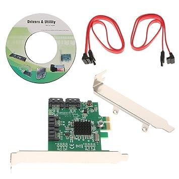 H HILABEE Adaptador para Tarjeta Raid 4 Puertos PCI Express ...