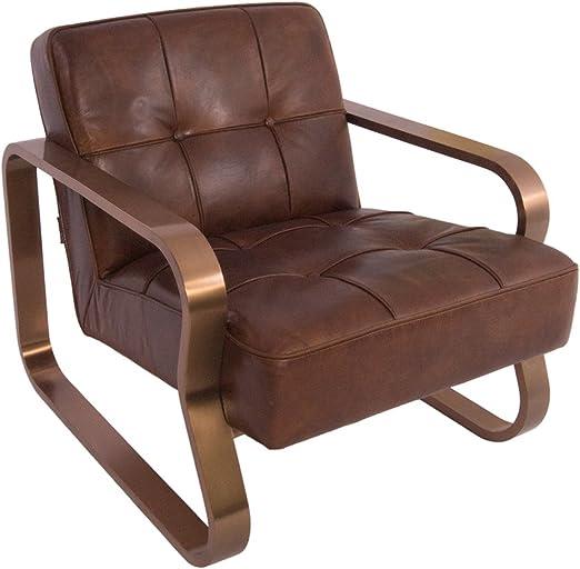 Design Clubsessel Savona Vintage Cigar Edelstahl Kupfer Finish Ledersessel Leder Sessel Amazon De Kuche Haushalt
