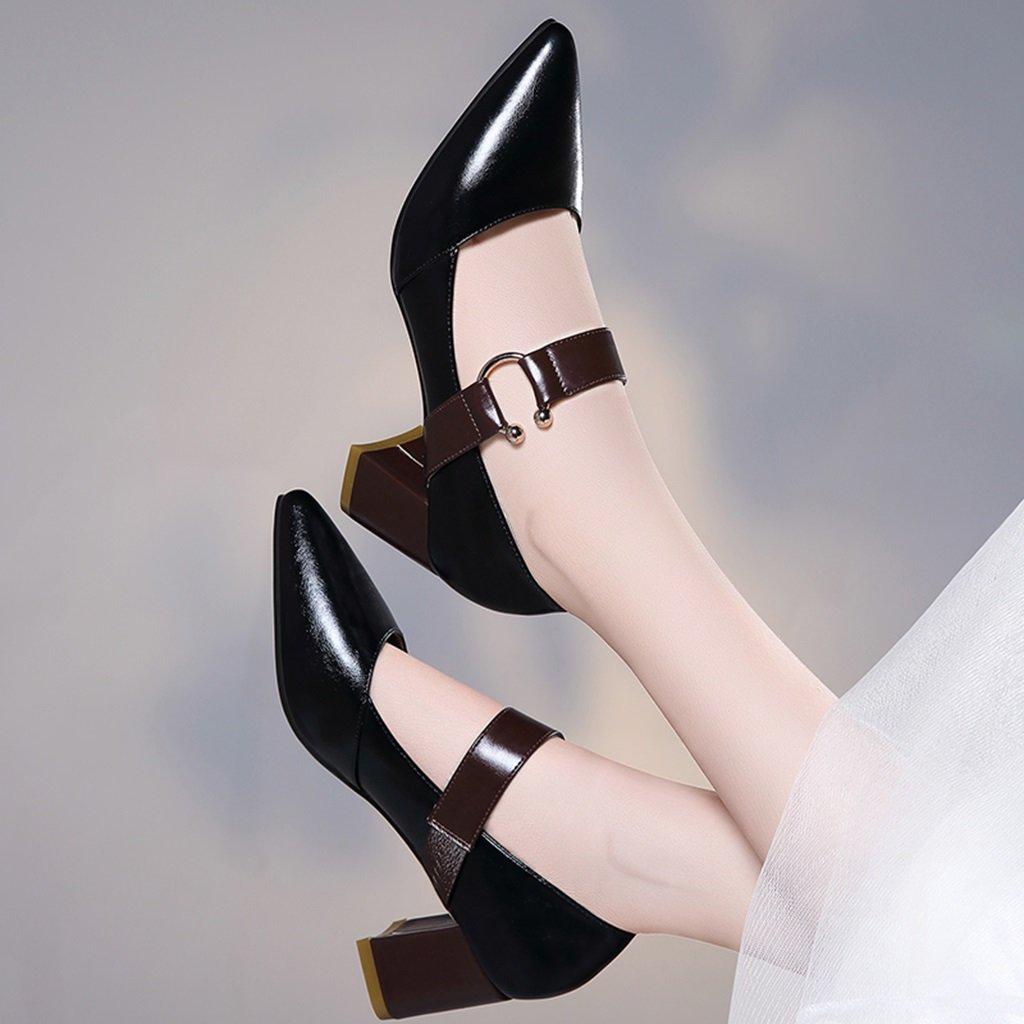 Damenschuhe Damenschuhe Damenschuhe HWF Zeigte einzelne Schuhe weibliche Frühlings-hohe Absätze reizvolle Spitze Schuhe der Frauen (Farbe   Schwarz größe   39) e3a8e9