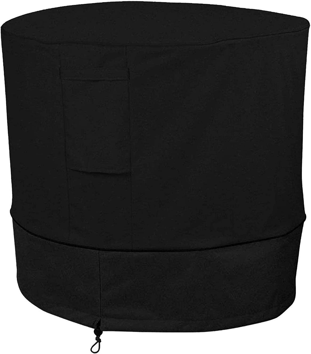 Ailelan Air Conditioner Cover Heavy Duty Large Universal Veranda Winter AC Unit Cover for Standard American Furniture Central Outdoor Vent Full Cover (Round) 34 x 30 inches, Black