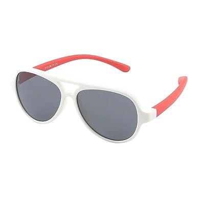 CGID caoutchouc flexible enfants Pilot lunettes de soleil polarisées pour  bébé et enfants 3-6 4fa1e3914329