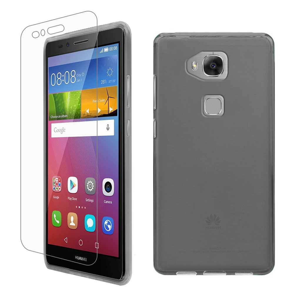 newest c5b74 35ec0 Gzerma Gel Series TPU Phone Case & PET Screen Protector for Huawei GR5 2016  Smartphone (Frosted Gray)