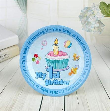 Herramienta Buena Fiesta Banquete de cumpleaños Plato Tema ...