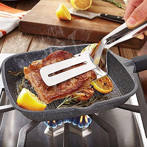 Tongs - Stainless Steel Steak Clip Food Bread Barbecue Pizza Outdoor Picnic Bbq Tongs Hand Cake Shovels - Ice Serving Rachel For Grill Outdoor With Lenses Made ()