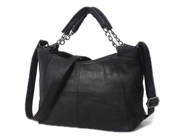 b9980ba3c7d7 ZM-leather Handbag 2018 New Shoulder Bag Casual Bag Ladies Simple Leather  Soft Leather Messenger