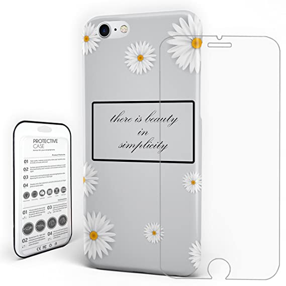 5080a4f4d8 Daisy Decoration, Inspiring Text, There is Beauty in Simplicity Cell Phone  Case for iPhone