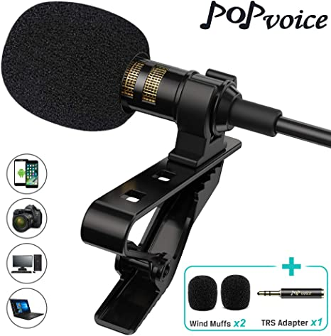 Profesional # 1 mejor Lavalier micrófono de solapa omnidireccional ...