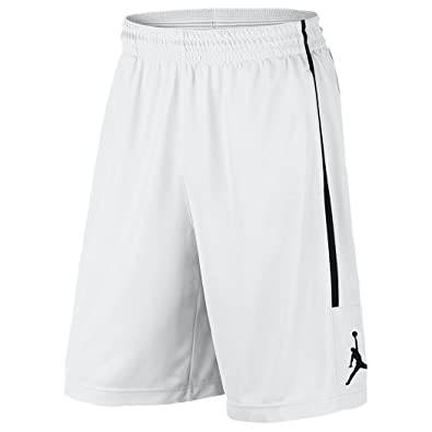 b4af99fe22052f NIKE Air Jordan Mens Jumpman Double Crossover Shorts AA1383 100 White (L)