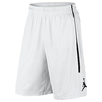 8c2741652d17 NIKE Air Jordan Mens Jumpman Double Crossover Shorts AA1383 100 White (L)