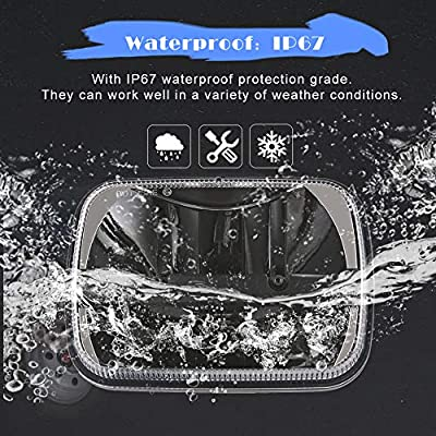 1 Pair 105W Rectangular 5x7/ 6x7 Inch Led Headlight High Low Beam Headlamp for Jeep Wrangler YJ Cherokee XJ Toyota pickup Trucks Replacement H6054 H5054 H6054LL 69822 6052 6053 (2 pcs): Automotive