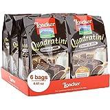 Loacker Quadratini Premium Cocoa&Milk Wafer Cookies, 125g/4.41oz., Pack of 6
