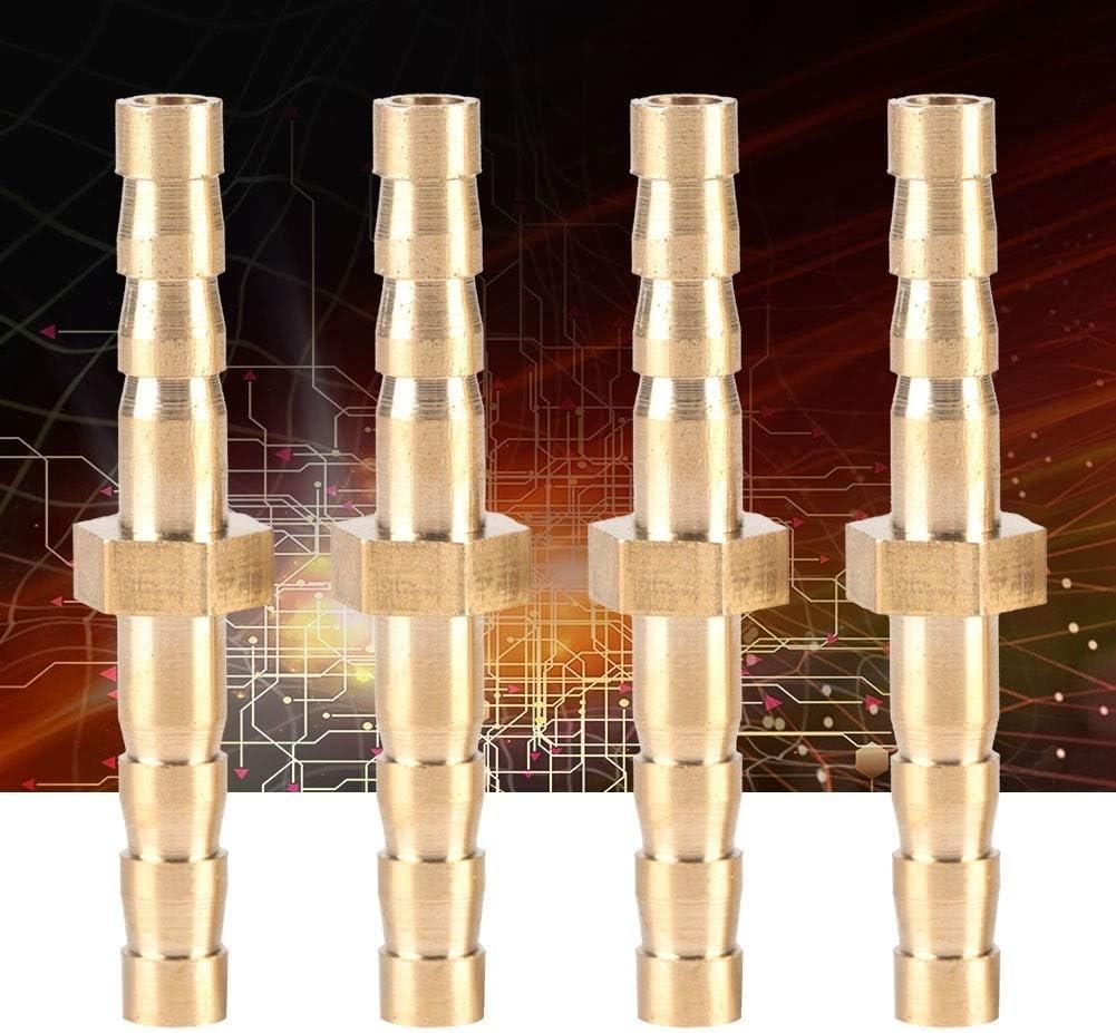 HGY 4 Piezas de lat/ón 4-4mm conexi/ón de la Manguera Barb Reductor Reducir la Cola del Conector enchufable