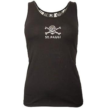 FC St. Pauli Tirantes Mujer Top Camiseta Artículo Fan Fútbol Personalizada Punk Lace Punta Calavera
