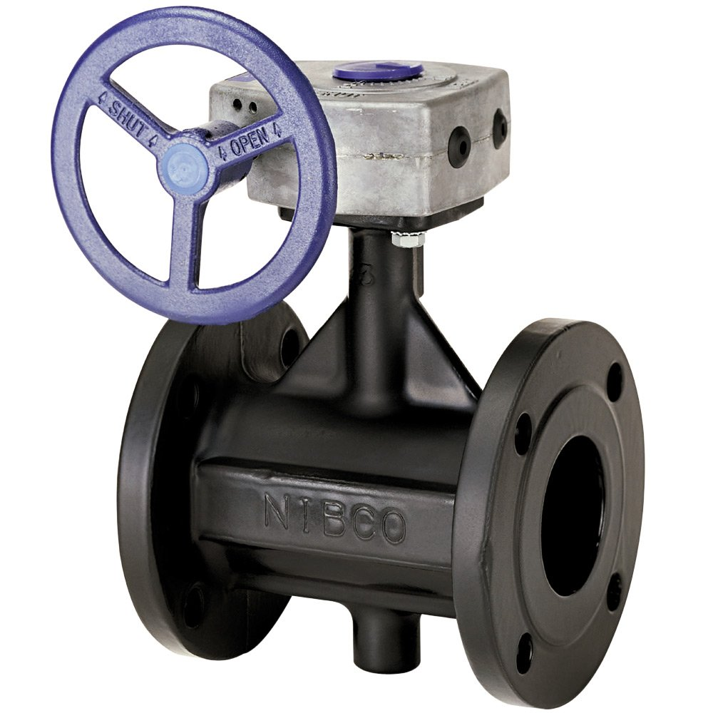 Flanged Gear Operator NIBCO FD-5765-5 Series Ductile Iron Butterfly Valve with EPDM Encapsulated Ductile Iron Disc 10