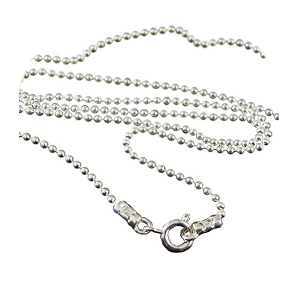 Sterling Silver Ball Necklace Chain 1.2mm Ball Chain Necklace All Sizes