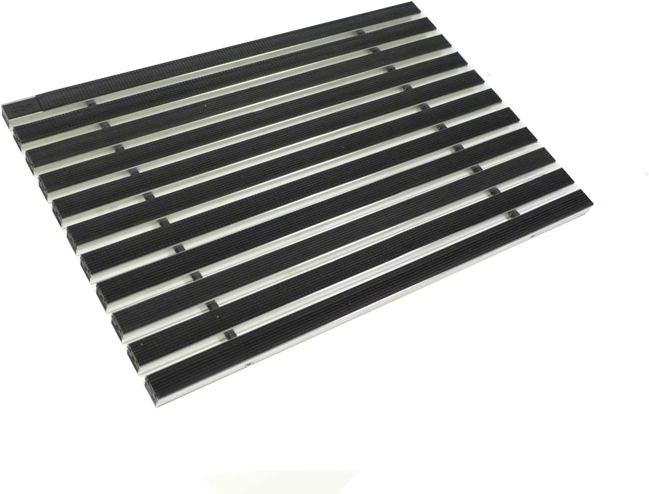 ACO Eingangsmatte 75x50 Gummi schwarz mit ALU Winkelrahmen Fu/ßmatte T/ürmatte Abstreifer