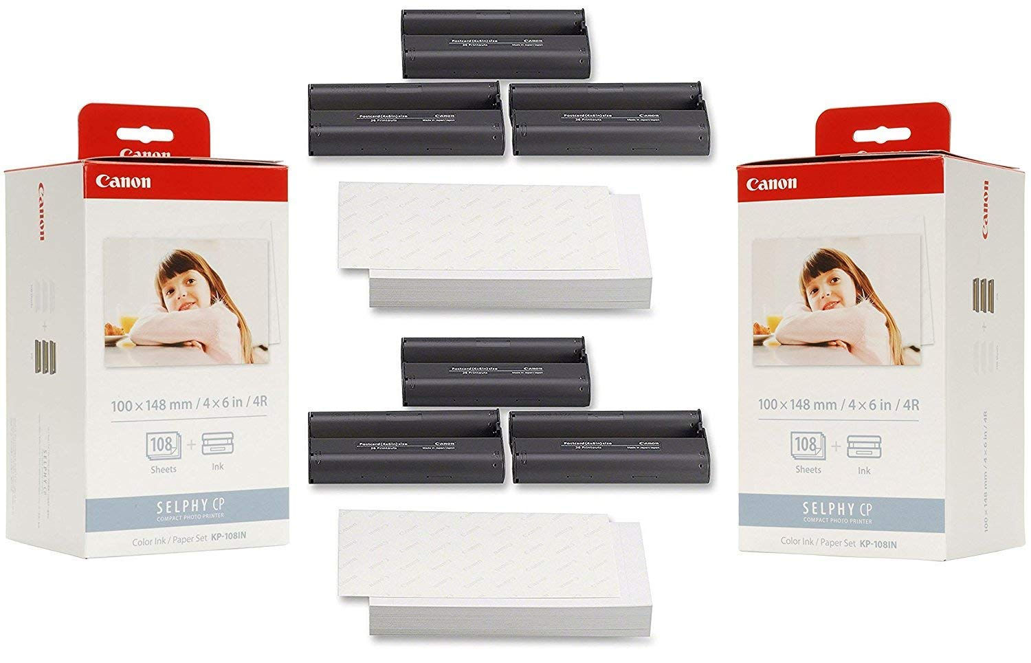 Canon KP-108IN Ink Paper Set (2) Pack - 216 Prints KP-108IN-2