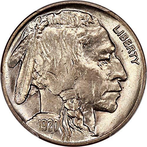1920 P Buffalo Nickels Nickel MS66 PCGS\CAC