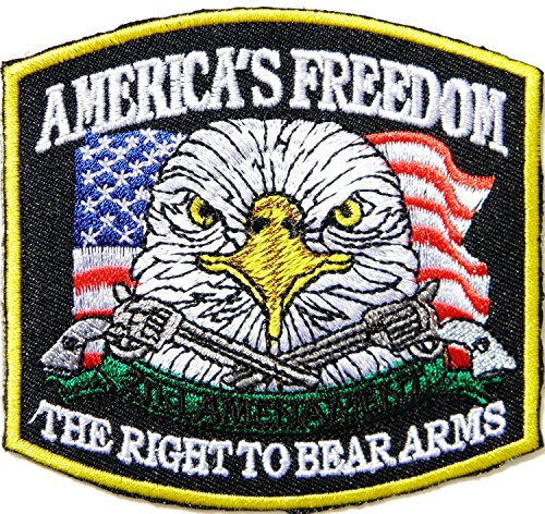 AMERICA FREEDOM THE RIGHT TO BEAR ARMS 2 - Motorcycle Biker Eagle Jacket Shopping Results