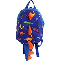 ADELA 10'' Kids Dinosaur Daypack School bag Toddler Backpack for Boys Girls-Safety Leash Anti-lost,1-4Yrs Old