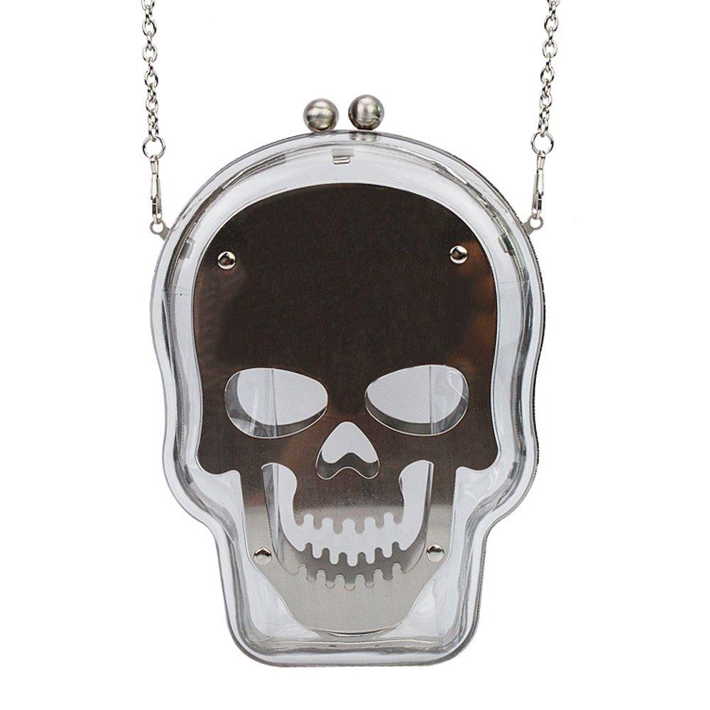 Women Acrylic Skull Shape Evening Bags Purses Clutch Vintage Banquet Handbag  Party Bags white hot sale 202ea08303
