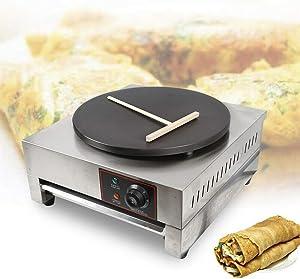 Crepe Maker Electric Pancakes Baker Machine Commercial 2.8KW Nonstick Crepe Pan Machine Single Hotplate 15.7