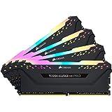 Corsair Vengeance RGB Pro 64GB (4x16GB) DDR4 3200 (PC4-25600) C16 Desktop Memory - Black