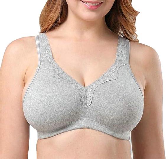 2dc180c89 Wofupowga Womens Underwear Plus Size Full Figure Strap No Underwire Thin  Stylish Everyday Bras Gray US