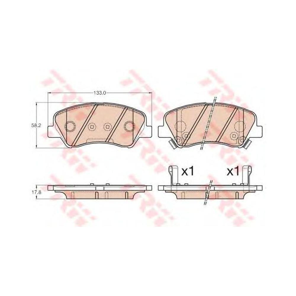 TRW GDB3548-TRW Bremsbelagsatz Scheibenbremse