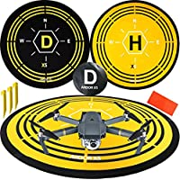 Drone Landing Pad 75 CM By ARDOR XS Collapsible RC Heli Pad Quick Fold Quadcopter Launch Portable Air Base Foldable Helipad Universal brands like DJI Blade Inspire Yuneec Parrot UDI GoPro Syma Hubsan