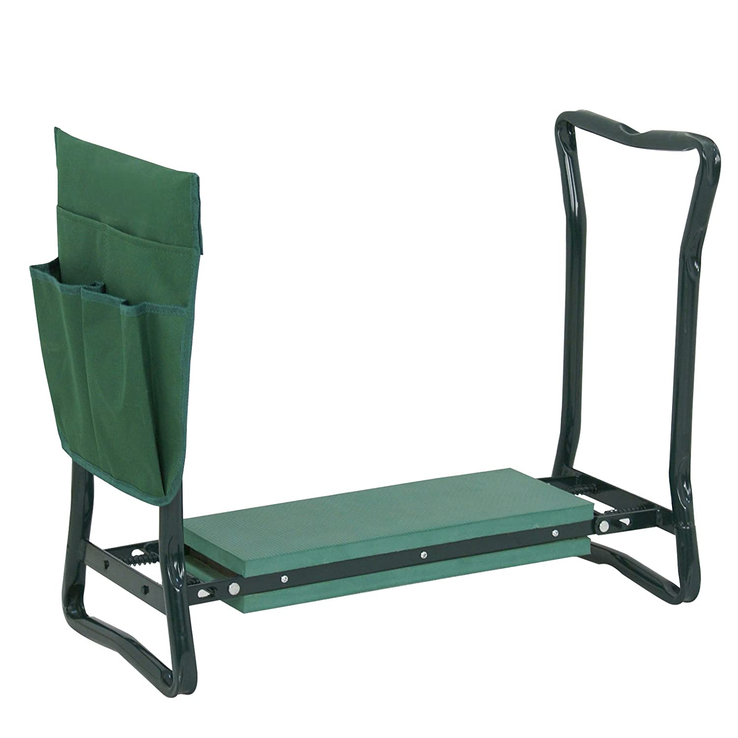 Heavy Duty Yard Gardening Chair with Soft Kneeling Pad,Green Multi-use Pouch Smartxchoices Folding Garden Kneeler Seat Garden Bench Stool with Handles