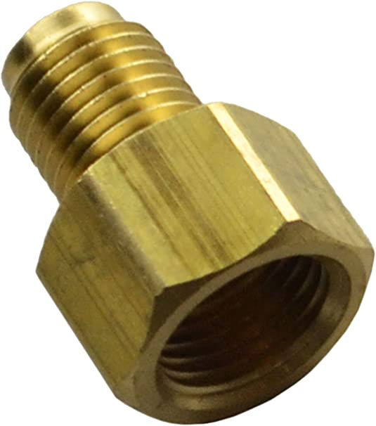 Inline Tube Brass Brake Tee with 7//16-24 Female Inverted Flare on All Sides for 1//4 Brake Line or Tubing E-10-11