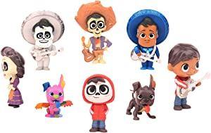 8 pcs COCO Cake topper, coco theme party supplies, kids birthday cake decoration.