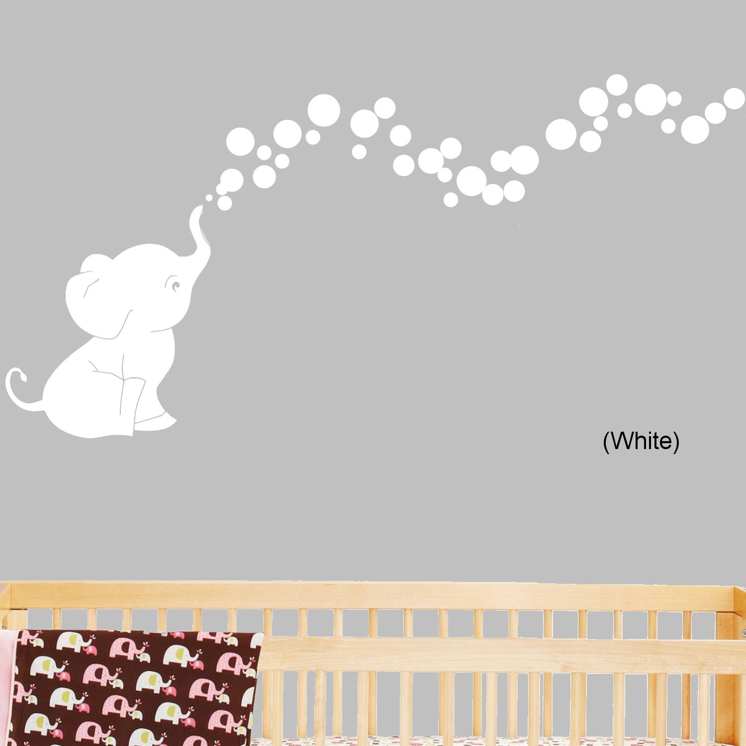 Amazon.com : Bobee Baby Elephant Wall Decals for Nursery Decor, Kids ...