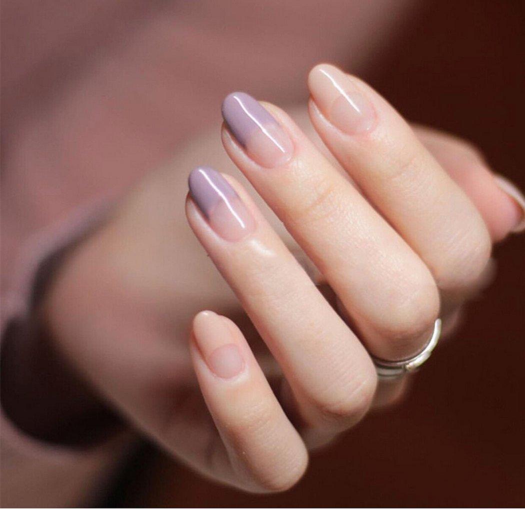 jovono Elegante False Nail Tips Natur French künstliche Nägel für ...