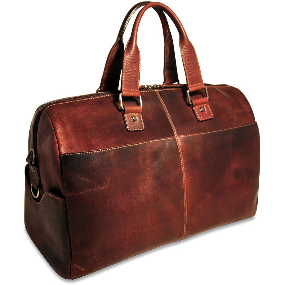 Jack Georges Voyager Collection Leather Cabin Bag in Brown