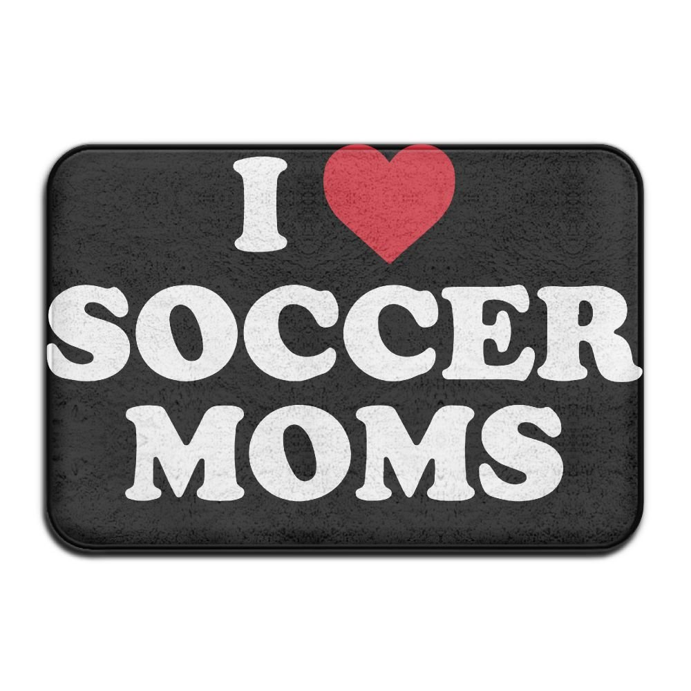 KOESBY-MT Highest Quality Materials Bath Mat I Love Soccer Moms Washable Bath Mats